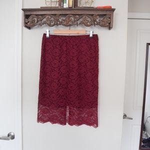 NWOT Missoni Maroon Burgundy Skirt